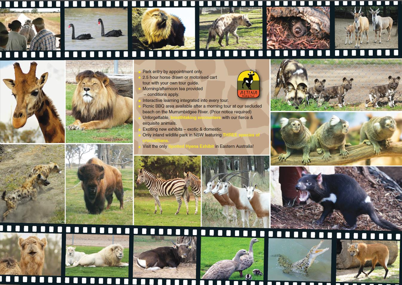 Experience Altina Wildlife Park Brochure Back
